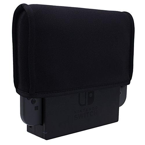 Pandaren® Staub Beweis Neoprene Cover Abdeckung für Nintendo Switch Konsole TV Dock Modus (Schwarz)