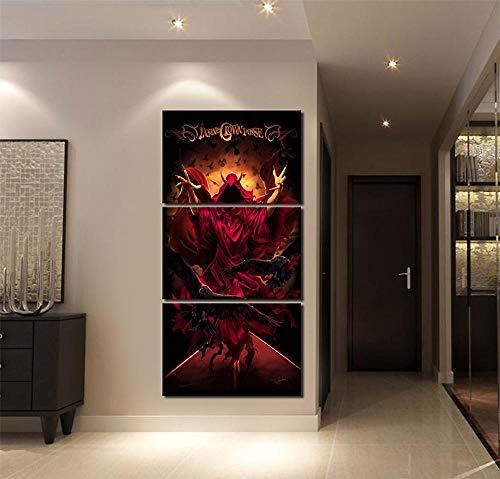 IILSZMT HD Art Cuadro De Pared 3 Partes Impresión Decoración Canvas Moderno Salón Decoración para Hogar Música Insane Posse