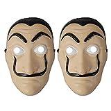 Dali Salvador Máscara 2 Piezas Dali Realistic Face Máscara de Halloween Látex Máscara de plástico La CASA De Papel