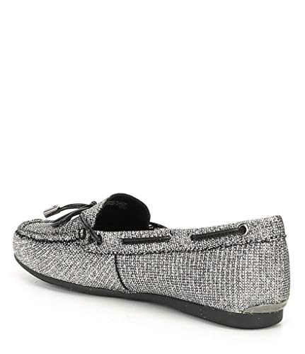 Style: Moccasin Closure Type: Slip On Heel Height: 0.25 Material: Fabric Sole Material: Manmade