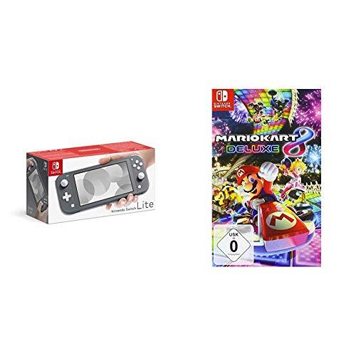 Nintendo Switch Lite, Standard, grau + Mario Kart 8 Deluxe [Nintendo Switch]