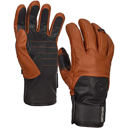 ORTOVOX Swisswool Leather Glove Handschuhe, braun, XL