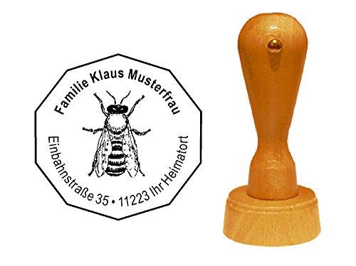 Stempel houten stempel adresstempel