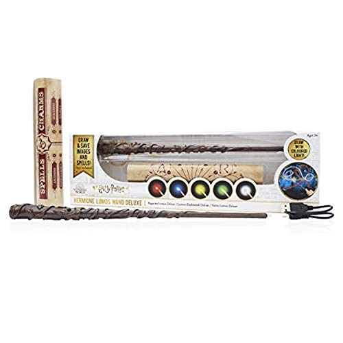 "WOW! PODS Stuff Collection Hermione Granger 14"""" Deluxe Lumos Light-Painting Wand, Multi"