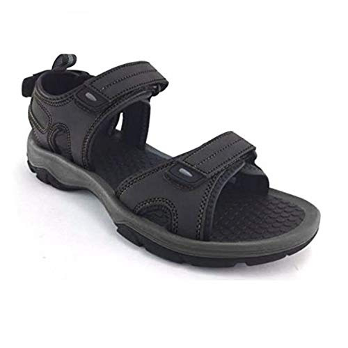 Khombu Mens Barracuda Sport Sandals Black Size 11 M US
