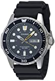 Casio Men's Solar Powered Stainless Steel Quartz Resin Strap, Black, 22 Casual Watch (Model: MTP-S110-2AVCF)