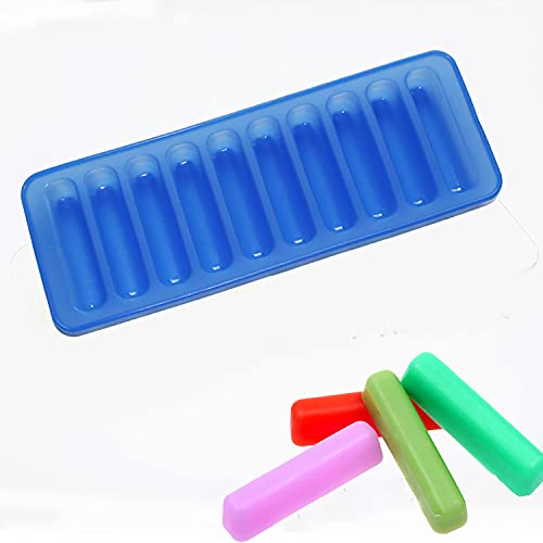 X-Haibei 3inch Length Stick Bar Biscuit Chocolate Baking Jello Caramels Ice Cube Crayon Silicone Mold 1oz per cell