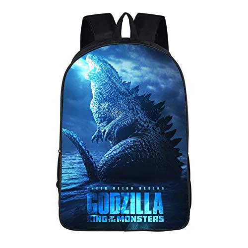 Godzilla bule power kids Multi-function Backpack Bookbag