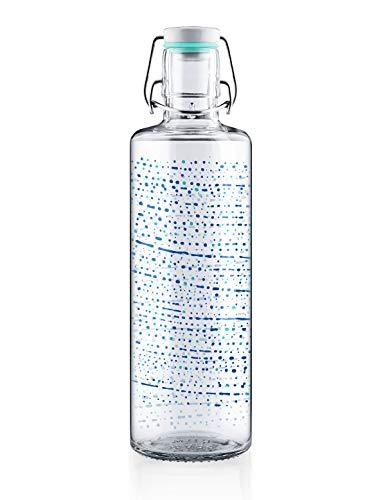 soulbottles 1,0l • One Million Drops • Trinkflasche aus Glas • plastikfrei, nachhaltig, vegan