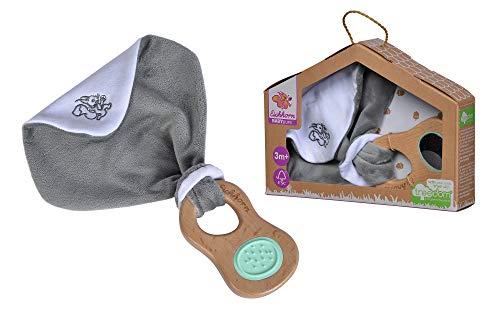Eichhorn 100005710 Baby Pure Greifling mit Schmusetuch aus FSC 100 Prozent zertifiziertem Buchenholz, nachhaltiges Holzspielzeug, mit Spiegel, für Kinder ab den ersten Lebensmonaten geeignet