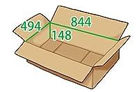 In The Box ダンボール 段ボール「衣類用LC(844×494×高さ148mm) 10枚」茶色
