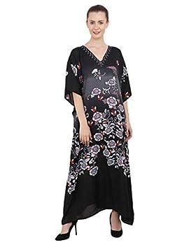Miss Lavish London Ladies Kaftans Kimono Maxi Style Dresses Suiting Teens to Adult Women in Regular to Plus Size  134-Black US 14-18