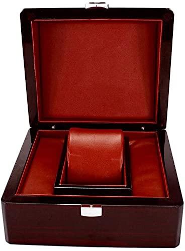 J&X Reloj de Pulsera de Madera Brillante Brillante/Brazalete de Cuero Almohada de Almacenamiento para el Titular del Collar