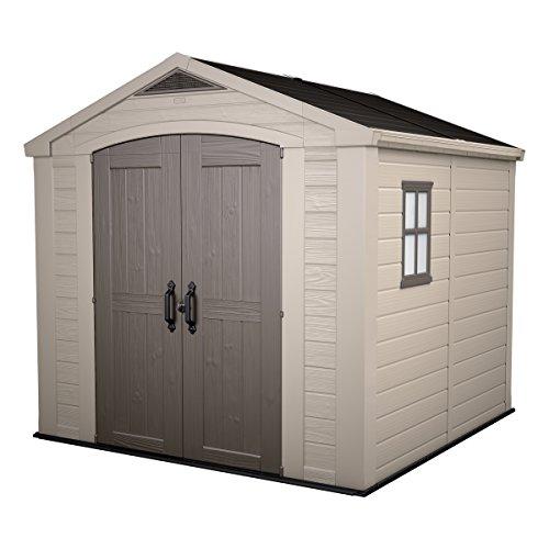 Garden Storage Shed | Keter Manor 6x8DD | 185,8 x 236,8 x 227 cms | Grey