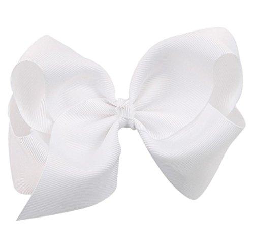 Covermason Pince à cheveux noeud pour enfants papillon (blanc)