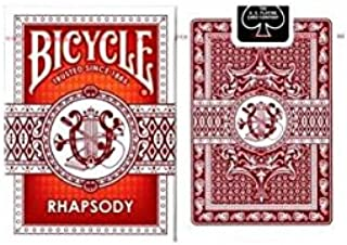 Bicycle Red Rhapsody Playing Cards by Bicycle