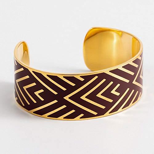 mes-bijoux.fr armband Mexico email violet gouden afwerking