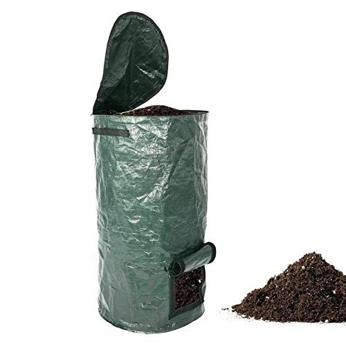 Review BEAUTISZSVILL Garden Composter Bag, PE Organic Waste Yard Compost Bag, Tearproof Leaf Grass B...
