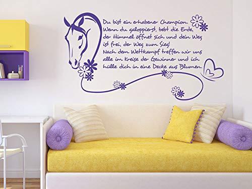 GrazDesign muurtattoo paarden gedicht spreuk wedstrijd muursticker paardentattoo