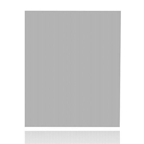 LILENO HOME afwasbakmat afdruipmat als onderlegger voor servies glazen bestek voor snel drogen - servies afdruipmat van microvezel (40 x 48 x 0,8 cm) - droogmat na spoelen 40 x 48 x 0,8 cm grijs, effen