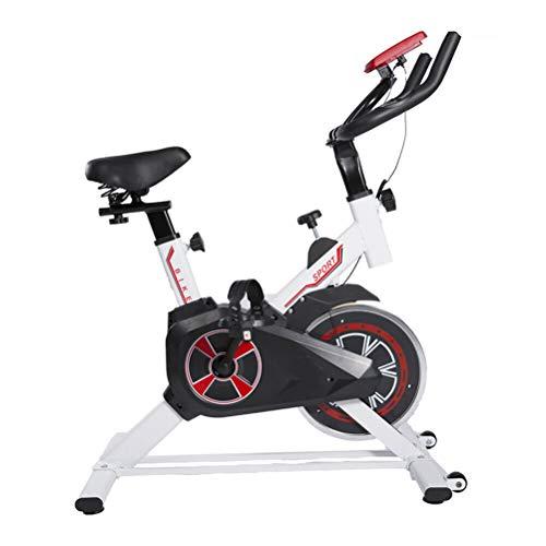 Bicicleta estática de 5 kg Equipo de Gimnasio para el hogar - Hogar Bicicleta de Ejercicio para Interiores/Bicicleta Entrenador de Gimnasio Cardio Fitness Workout - Asiento Ajustable Fitness