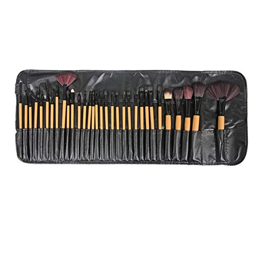 32 piezas pinceles de maquillaje cosmético profesional conjunto de pinceles de maquillaje herramienta de belleza de base herramientas cosméticas con mango de plástico