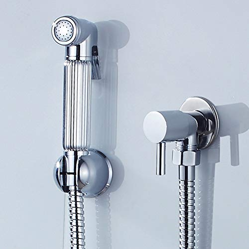 Kit Douchette WC Toilette Bidet Spray à Main avceTuyau en Acier Inoxydable Douchette WC pour l'hygiène Intime