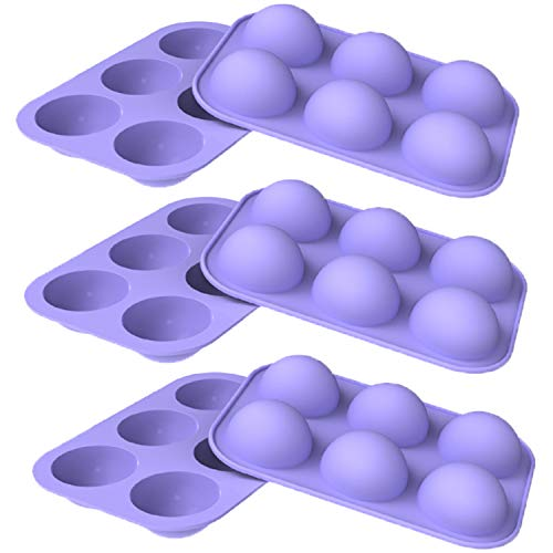 WENTS Mittlere Kugelform Silikonform 6 Packungen Backform zur Herstellung von Schokolade, Kuchen, Gelee, Dome-Mousse