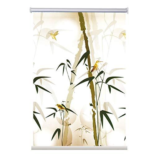 Rollo YXX Badezimmerfenster Rollläden, Heimbüro Verdunkelungsrollos mit wasserdichtem Muster, Lochfreie Installation (Size : 80cmx125cm)