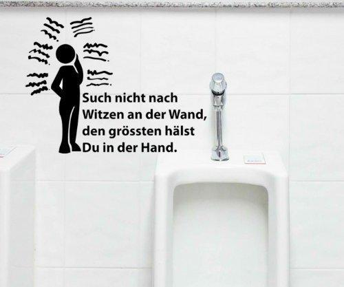 myDruck-Store Toiletten Spruch Aufkleber, Wandtattoo Badezimmer, WC Bad Dekoration, 1K014, Farbe:Schwarz Matt;Breite vom Motiv:45cm