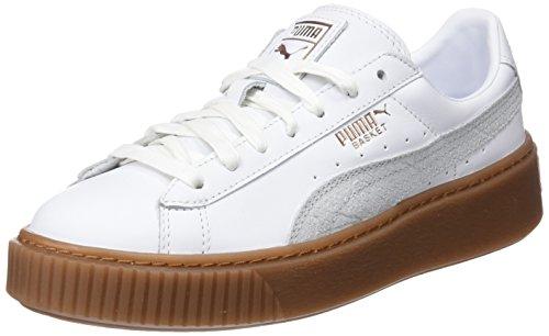 Puma Damen Basket Platform Euphoria Gum Sneaker, Weiß (Puma White-Rose Gold), 41 EU