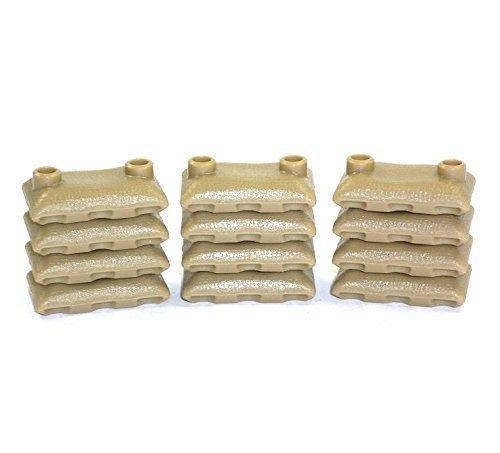 Custom 12 Sandsäcke Dark tan beige 12 Stück WW2 Bundeswehr für Lego Figuren