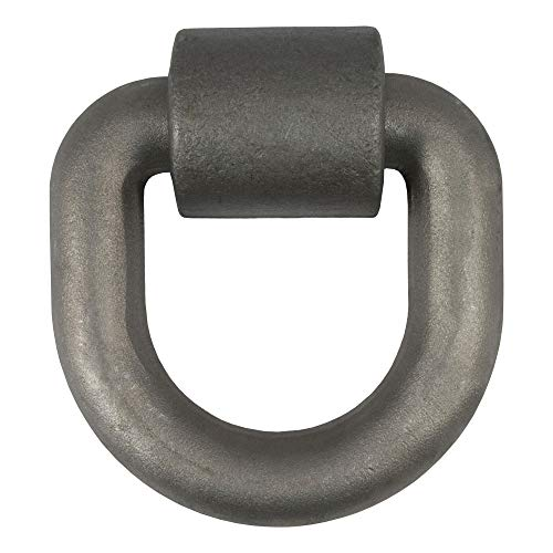 CURT 83770 5-Inch x 5-Inch Weld-On D-Ring Tie Down Anchor, 1-Inch Diameter Ring, 46,760 lbs. Break Strength