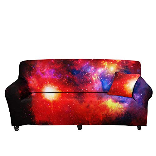 HXTSWGS Protector de Muebles Fundas sofá,Funda de sofá de Gran Cielo Estrellado 3D, cojín de sofá de Tela para el hogar, Funda elástica, Funda de sofá de impresión Colorida-Color1_90-140cm