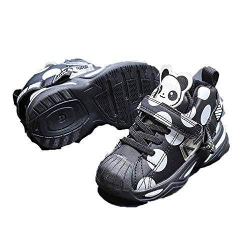 Zapatos Deportivos para niños Zapatos de Cuero otoño e Invierno además de Terciopelo cálido Antideslizante Zapatos Planos Estudiantes Zapatos de Correr Ligeros Zapatos de bebé Zapatos de niño