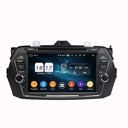 WHL.HH Androide 9 Auto Estéreo GPS Navegación IPS Pantalla táctil Cabeza Unidades Autoradio Video DVD Multimedia Jugador Apoyo Direccion Rueda Control BT, para Suzuki CIAZ 2015