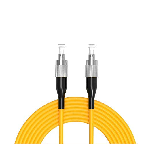 Buacoz 6Meters 20ft FC/UPC-FC/UPC Single-Mode Fiber Optic Cable FC to...