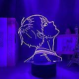 Led Touch Light Anime Night Light Haikyuu Tobio Kageyama Dormitorio Decoración Lámpara De Mesa Amigos Para Niños Cumpleaños Año Nuevo Regalo Manga 3D Lámpara