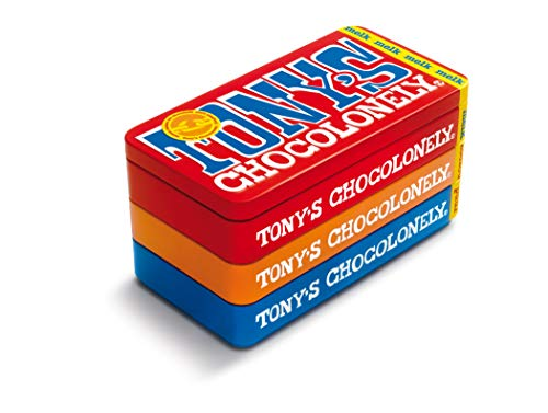 Tony's Chocolonely – Stapelblik – 3 x 180 gram – 3 Verschillende Chocoladerepen – Fairtrade Chocolade