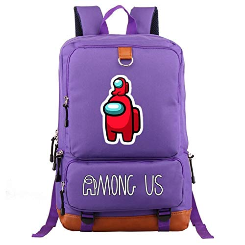 Zzlush Among Us Backpack Bags New Game Among Us Backpack Mens Women Laptop Backpack Rucksack School Bags Women Men Fashion Hip Hop Outdoor Backpack Middle School Students Bookbag for Boy Girl