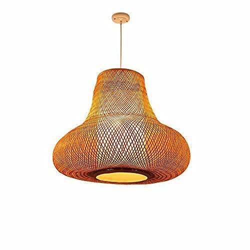 wangch Linterna de bambú Lámpara Colgante Mimbre de ratán Araña Tejida a Mano Pantalla de bambú E27 Iluminación Decoración Lámpara Adecuada para Sala de Estar Balcón Restaurante Bar Dormitorio Tatami