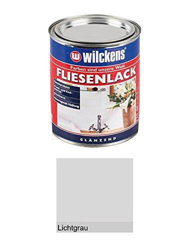 750 ml Wilckens Fliesenlack, Kunstharzbasis, Grund- und Endanstrich, Weiß, Cremeweiß oder Lichtgrau Glänzend (Lichtgrau)
