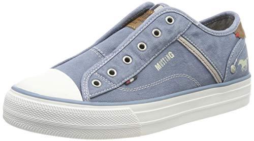 MUSTANG Damen 1272-401 Slip On Sneaker, Blau (Sky 875), 38 EU