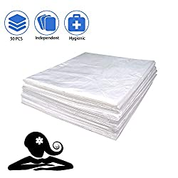"""77A 50 Pack Sauna Sheeting Plastic for Body Wrap Used Inside a Far Infrared Sauna Blanket 47""""x82"""" PVC"""