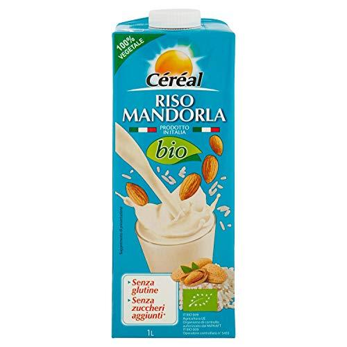Céréal Riso e Latte di mandorla Bio, bevanda da agricoltura biologica, senza zuccheri aggiunti, prodotto in Italia - 1 L