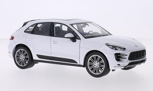 Porsche Macan Turbo, weiss, Modellauto, Fertigmodell, Welly 1:24