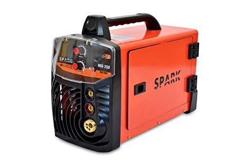 Spark - Soldadora Inverter MIG MAG MMA 200A/220V DC, Pantalla Digital, Igbt, Tamaño Máximo De Electrodo 4.00mm, Máquina De Soldar Portátil Con Inverter, Soldador De Arco, Accesorios Incluidos