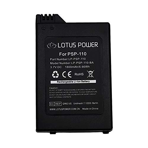 Reemplazo del Paquete de Batería PSP-110, Batería de Iones