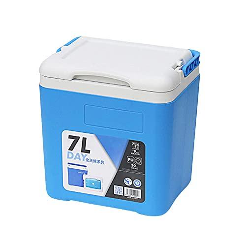 Nevera rígida con capacidad de 7 litros, caja de hielo con aislamiento integral, de poliuretano, mantiene las bebidas para alimentos frescos