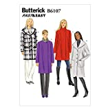 Butterick Patterns 6107 ZZ - Patrones para Abrigo de Mujer (Tallas L, XL y XXL)